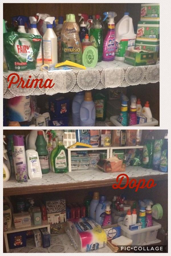 armadio in ordine prima e dopo