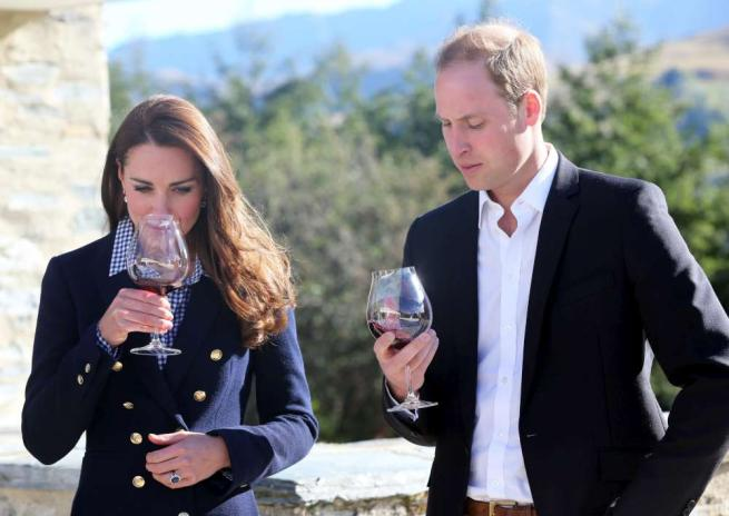 kate e william vini
