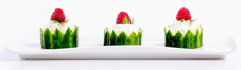 cestini di cetriolo fingerfood