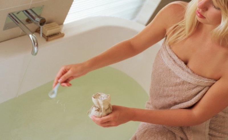bagno con sale