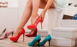 dona scarpe tacco
