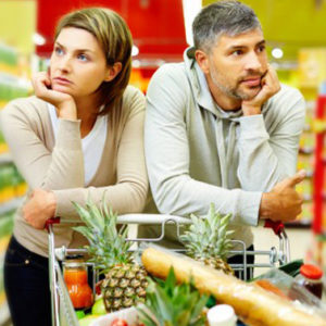 Tra moglie e marito non mettere il carrello del supermercato