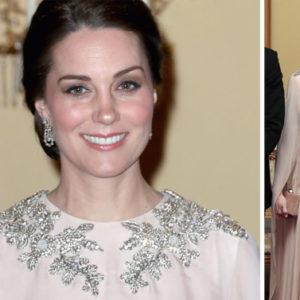 Kate in premaman rosa cipria incanta anche il re di Norvegia