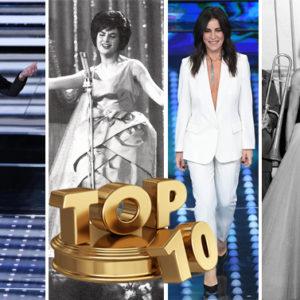 Sanremo è anche il festival del look: ecco la top 10 di sempre
