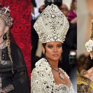 Non c'è più religione! Guardate il look delle dive al N.Y. Met Gala