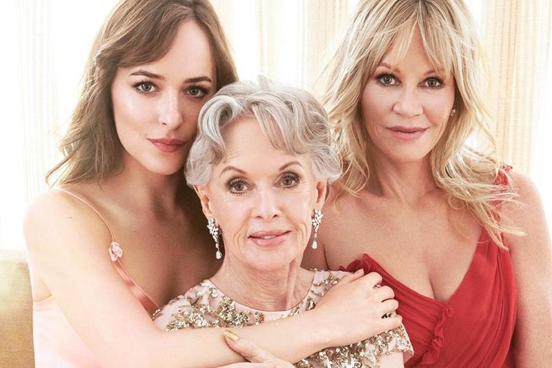 Melanie Griffith con sua madre Tippi Hedren e sua figlia Dakota Jhonson