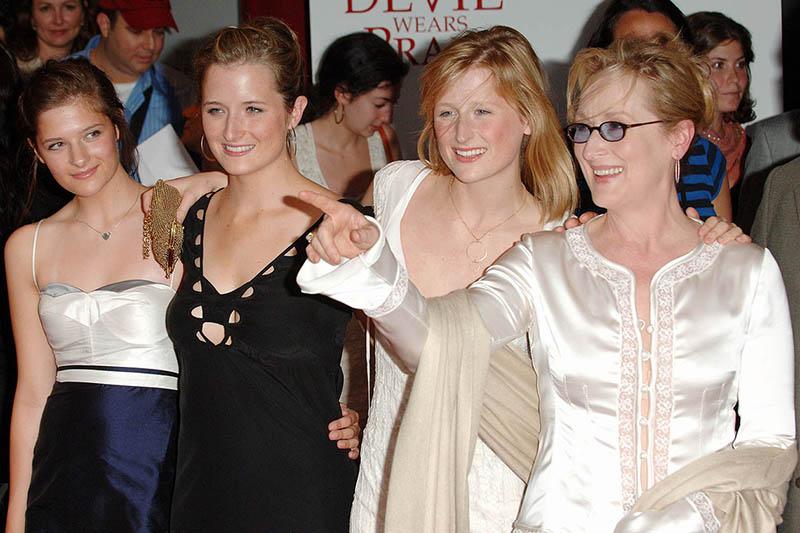Meryl Streep con Grace, Mamie e Louise Gummer