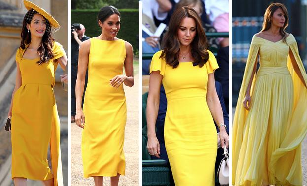 Vestito giallo amal