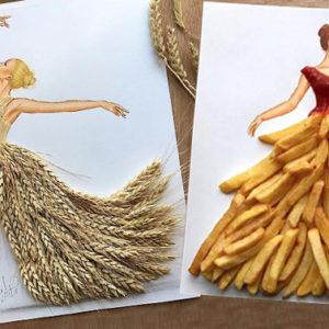 Te lo immagini un abito da sera con la gonna fatta di patatine?