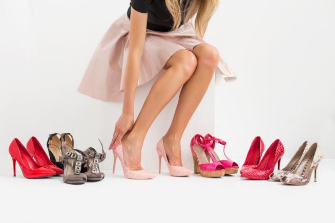 scarpe col tacco prova