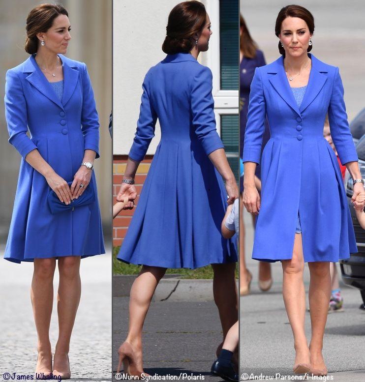 kate middleton cappotto azzurro