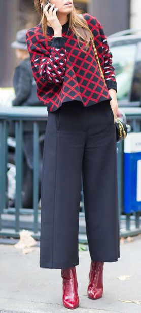 cropped pants rosso