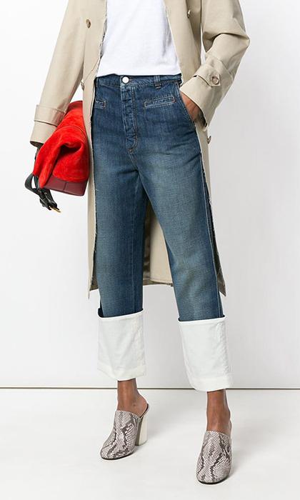 jeans cropped loewe