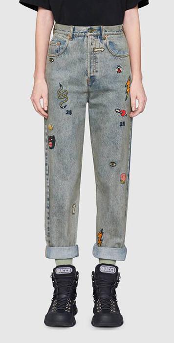 jeans gucci ricami