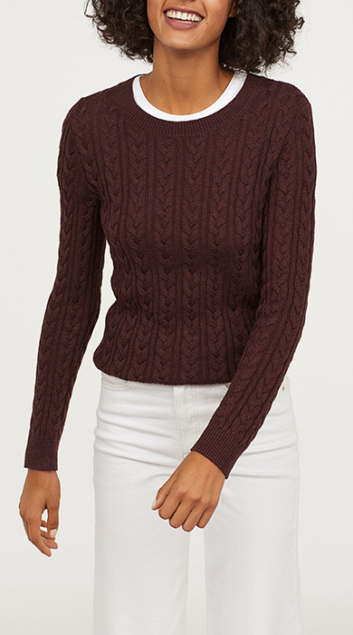 low cost h&M MINI PULLOVER TRECCE