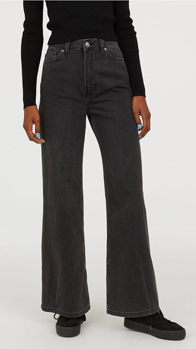 jeans hm wide leg palazzo