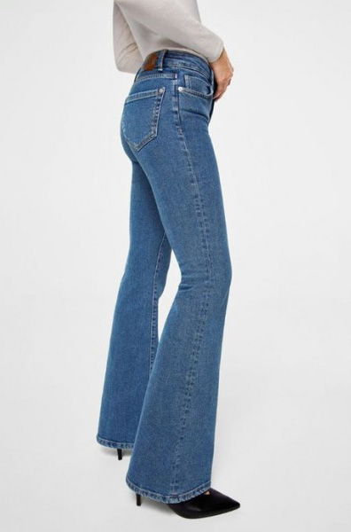 jeans mango-flare-flared