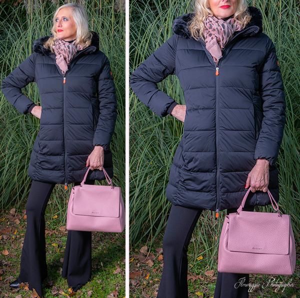 06 cappotto nero piuma comp