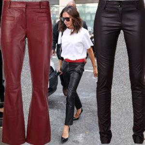 Vesti come le Vip: i pantaloni in pelle di Naomi, Vicky e Charlize
