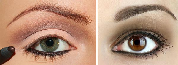 eyeliner matite occhi marroni