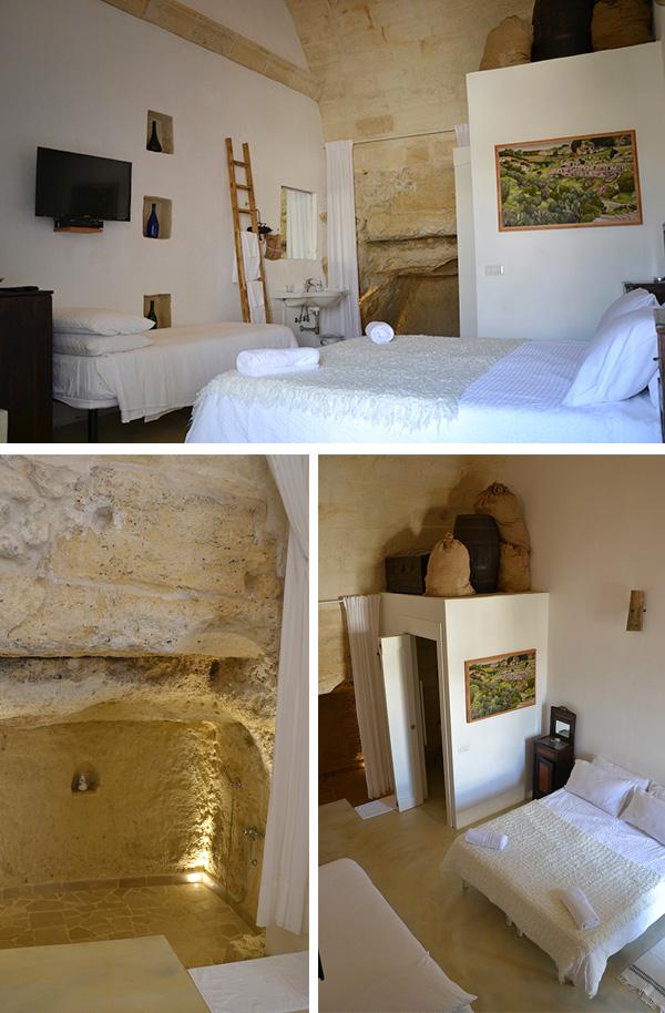 albergo camera bagno grotta