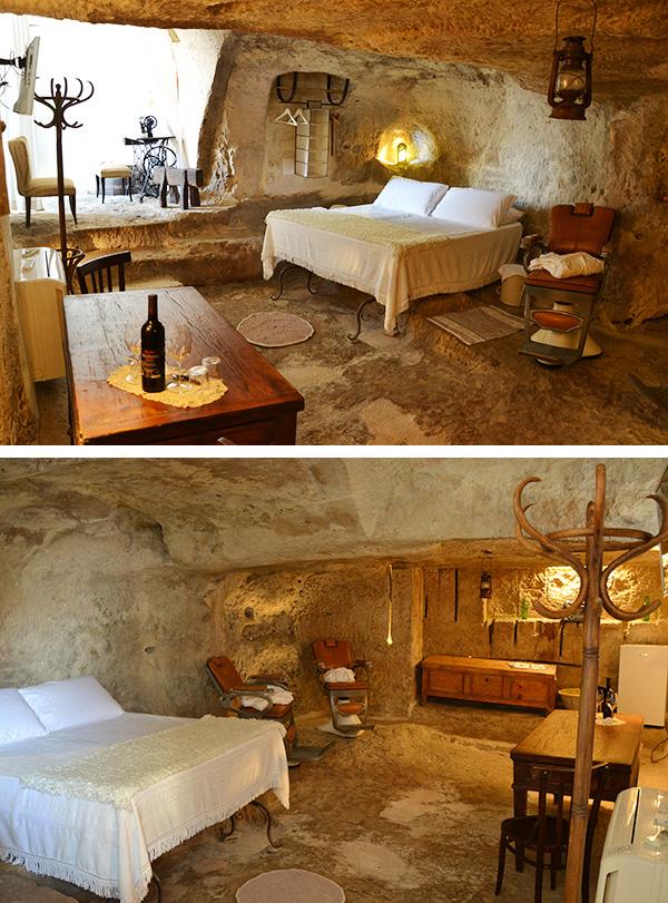 albergo camera grotta