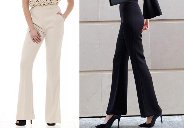 look pantalone vita alta