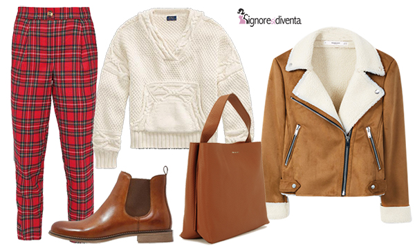 rosso e bianco outfit