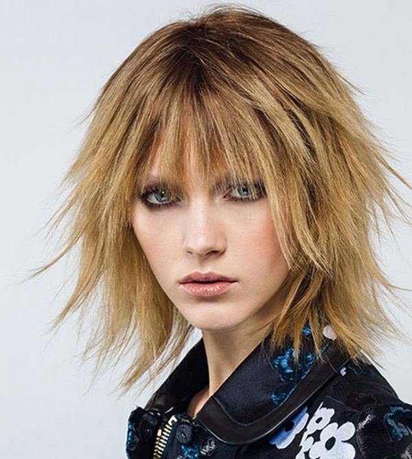 taglio shag hair