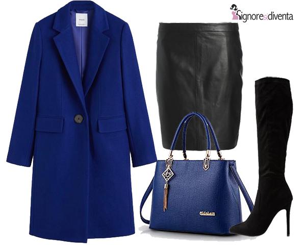 blu e nero outfit giorno