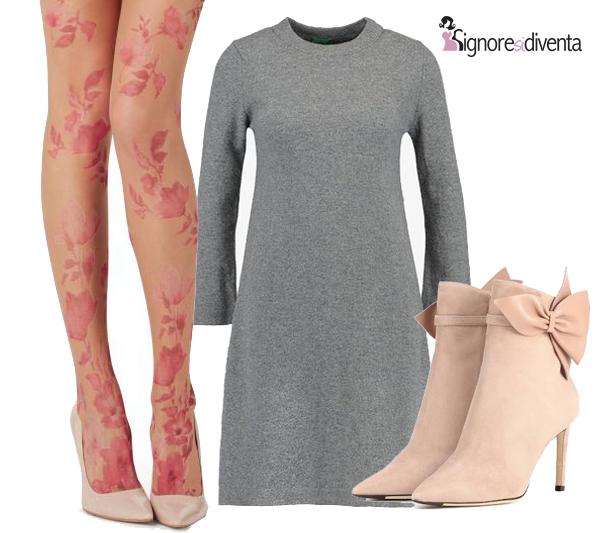 calze rosa romantiche