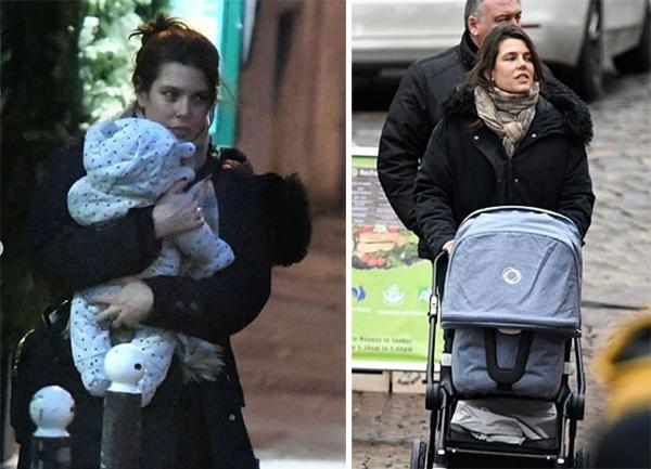 charlotte casiraghi con figlio