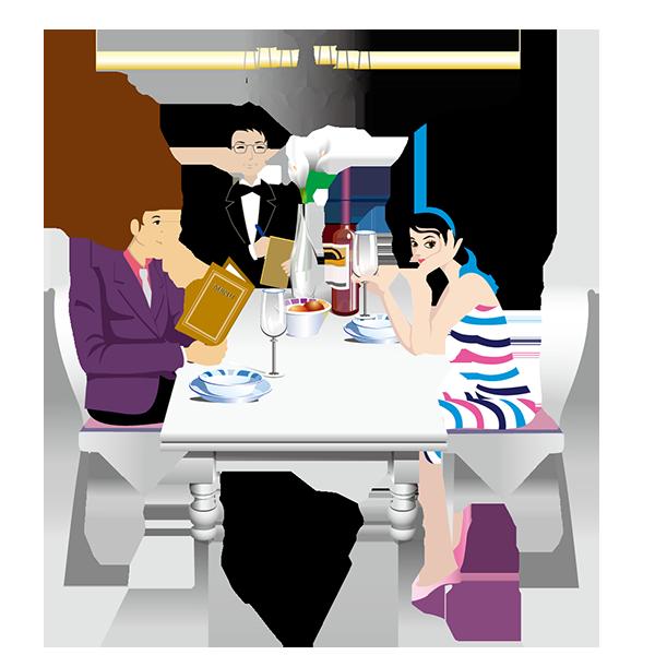 amici uomo donna a cena