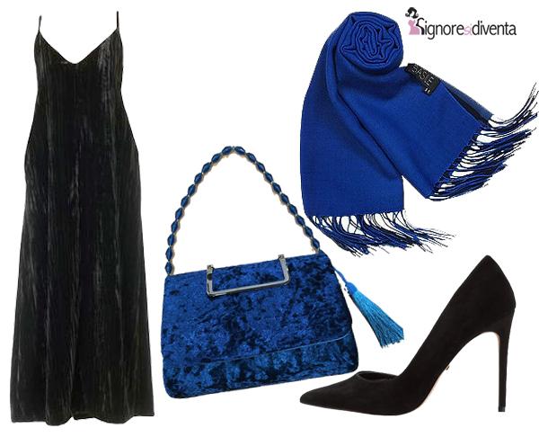 outfit blu nero sera
