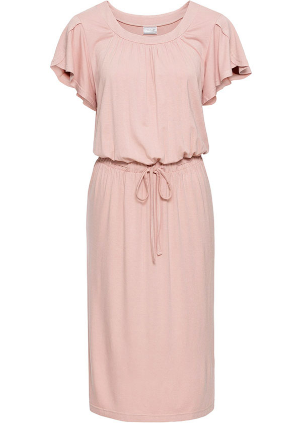 rosa cipria vestito