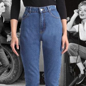 Direttamente dagli Anni 80 e 90, torna di moda il jeans a vita alta