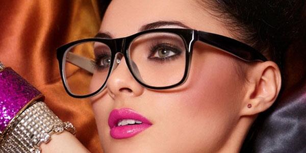 make up occhiali scuro
