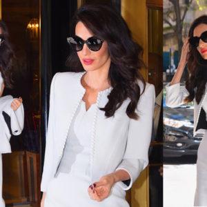 Imita il look di Amal Clooney e adotta anche tu il total white