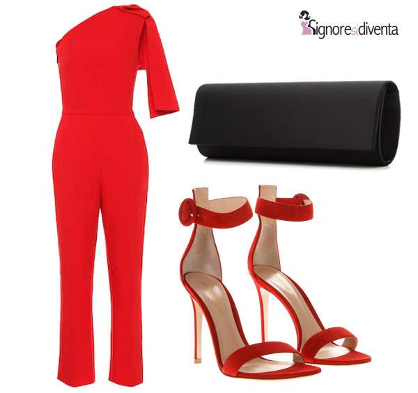 julia jumpsuit rossa