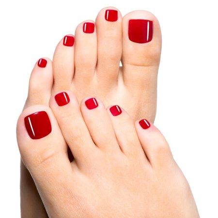 smalto piedi rosso