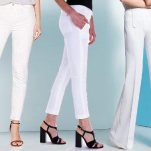Come indossare i pantaloni bianchi senza allargare la figura
