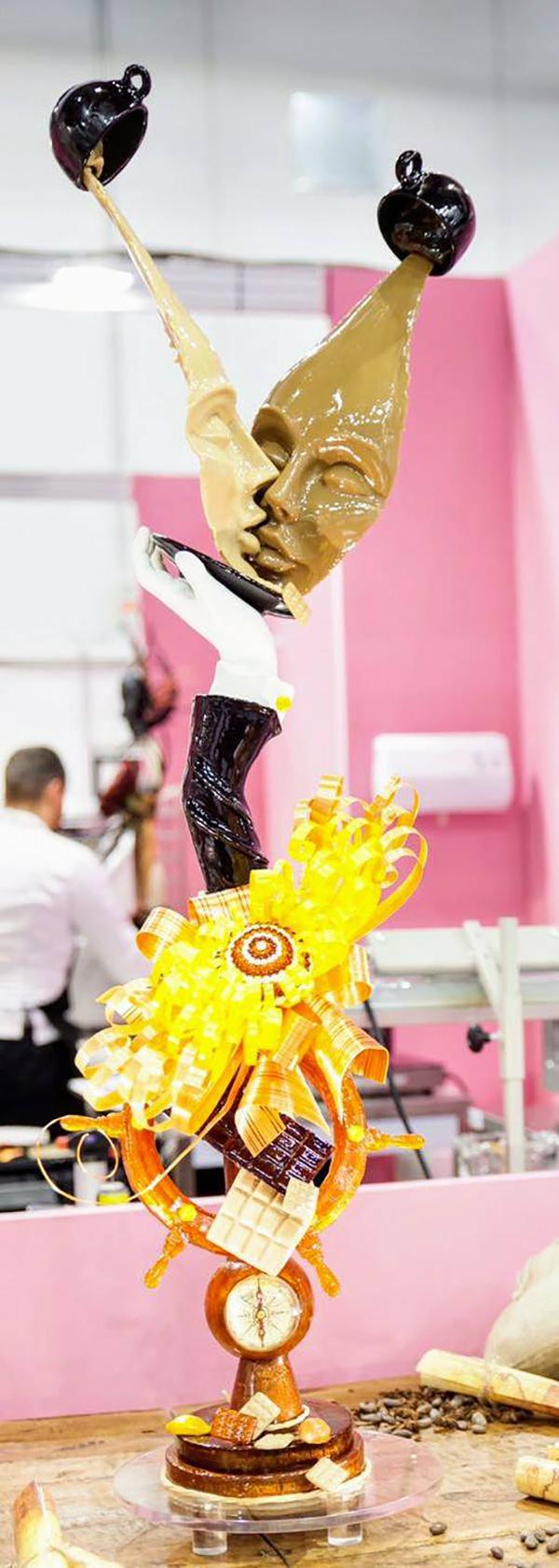 giuseppe russi scultura cioccolato