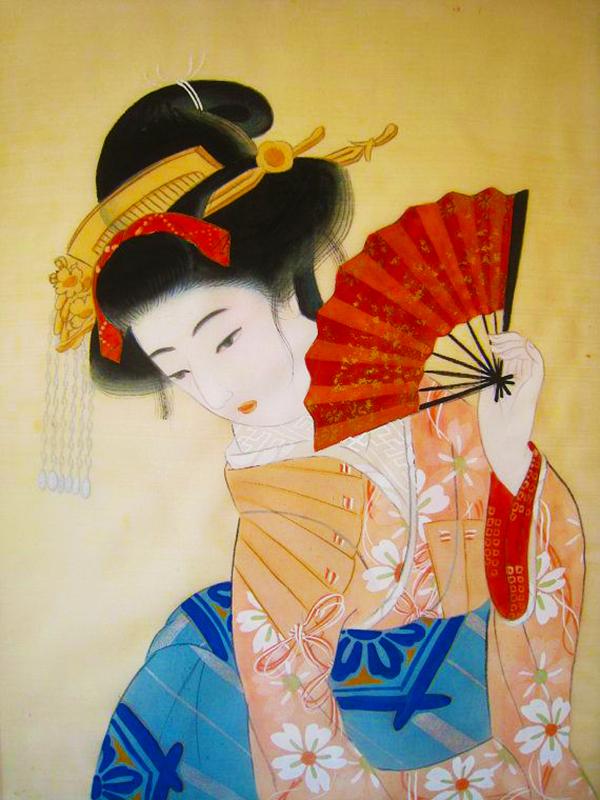 donne con ventaglio menopausa oriente