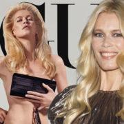 Claudia Schiffer si spoglia per mostrare la bellezza dei 51 anni