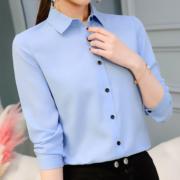 Look 50: il must have di questo autunno è la camicia azzurra