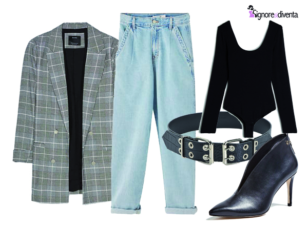 outfit jeans slouchy
