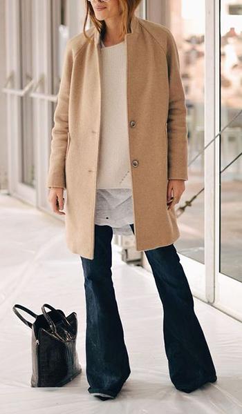 jeans a zampa cappotto