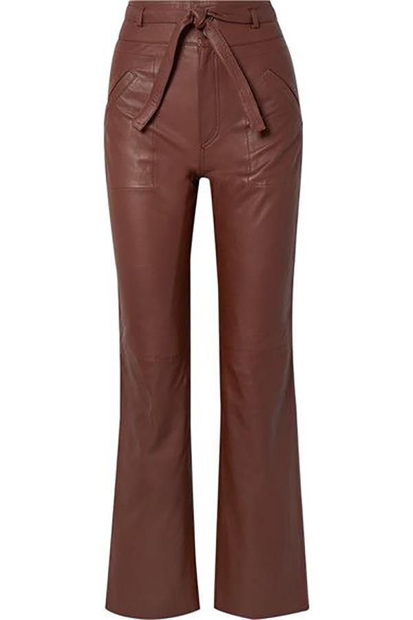 pantaloni in pelle net a porter 2
