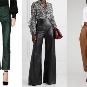 Anche quest'inverno i pantaloni in pelle sono un vero must have