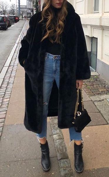 pelliccia jeans